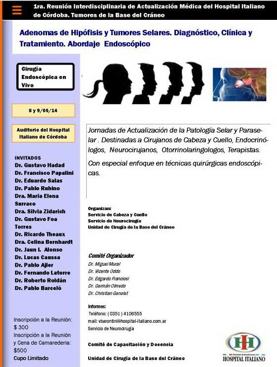 Jornadas de Actualización de la Patología Selar y Paraselar